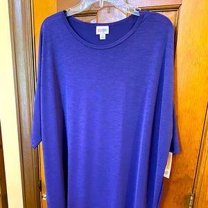 Lularoe Solid Silky Purple Irma New With Tags XL